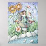 Courant de copie féerique d'affiche de fleur magiq