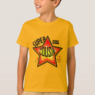 Cousin-super cooler Stern scherzt Orange T-Shirt