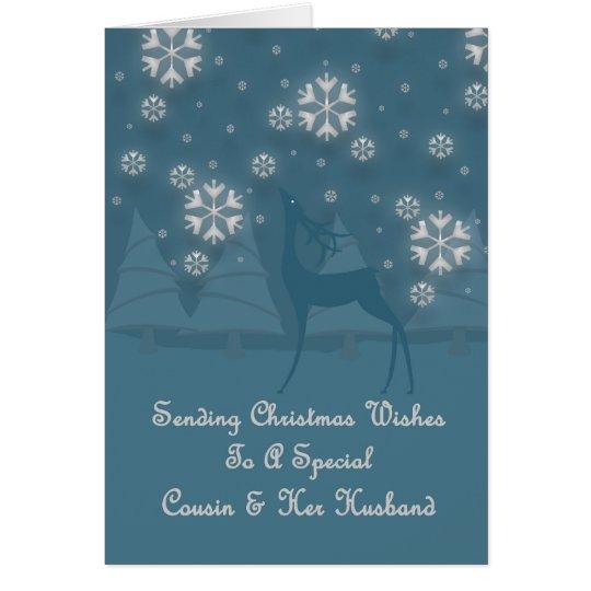 Cousin u. ihr Ehemann-Ren-Weihnachten Grußkarte