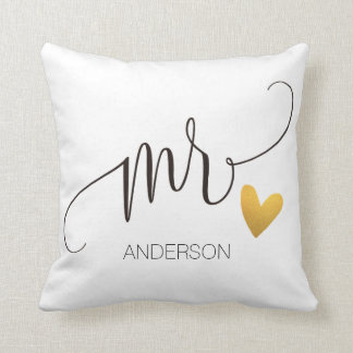 Coussin Mr.|Mr.& Mrs.| Calligraphy|Personlized Wedding-2