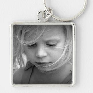 Coutume votre porte - clé personnalisé par photo porte-clé carré argenté