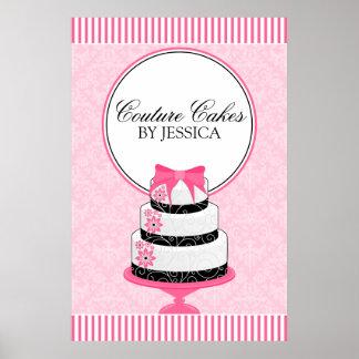 Couture backt Bäckerei-Geschäfts-Plakat zusammen Poster