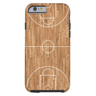Couverture de cas de terrain de basket coque tough iPhone 6