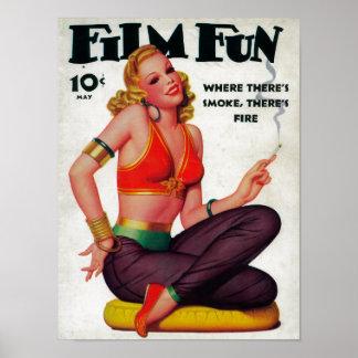 Couverture de magazine d'amusement de film 11 poster