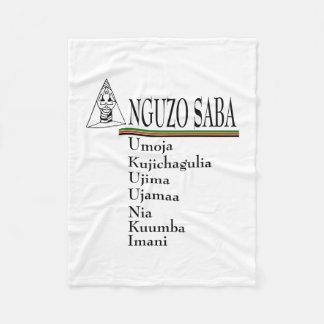 Couverture d'ouatine de Kwanzaa de principes de