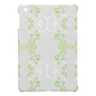 Couverture florale verte coque pour iPad mini