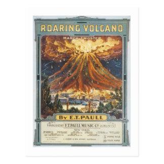 Couverture vintage de Songbook de volcan d'hurleme Cartes Postales