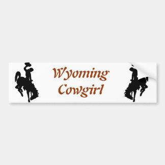 Cow-girl du Wyoming Autocollant De Voiture