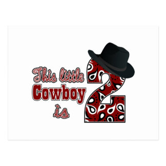 Cowboy-2. Geburtstag Postkarte
