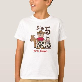 Cowboy-5. Geburtstag T-Shirt