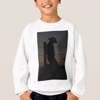 Cowboy am Sonnenuntergang Sweatshirt