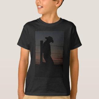 Cowboy am Sonnenuntergang T-Shirt