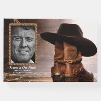 Cowboy-Begräbnis- Erinnerungsgast-Buch Gästebuch