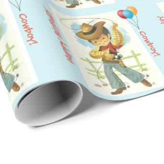 Cowboy-Geburtstags-Geschenk-Verpackung Einpackpapier