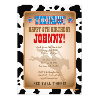 Cowboy-Geburtstags-Party Einladung
