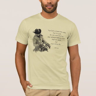 COWBOY: JOHN-3:16: Bibel: Bleistift-Kunst T-Shirt