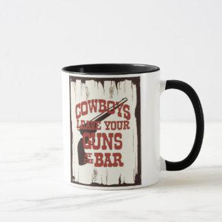 Cowboy-Karo Ihre Gewehre Tasse