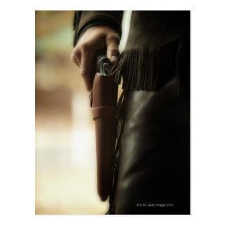 Cowboy mit Gewehr im Pistolenhalfter Postkarte
