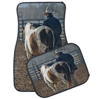 Cowboy mit PferdeSet von 4 Auto-Matten Automatte