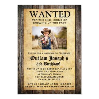Cowboy-Party Einladung | WOLLTE EINLADUNG