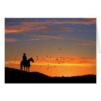 Cowboy-PferdeBeileids-Karte Karte