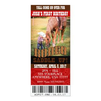 Cowboy-Rodeo-Einladungen, Umschläge eingeschlossen Karte
