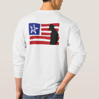 Cowboy-Silhouette auf USA-Flagge T-Shirt