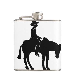 Cowboy-und Pferdeflasche! Flachmann