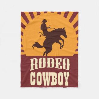 Cowboy-und Pferderodeo-Sonnenuntergang Fleecedecke