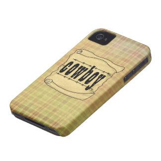 Cowboy vintage Blackberry du papier w/Scroll Étuis iPhone 4