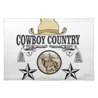 Cowboylandreiter Stofftischset