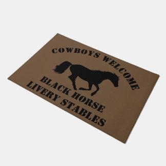 Cowboys begrüßen Ponyverein, Ranch oder Türmatte
