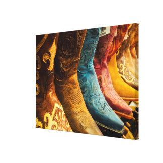 Cowboystiefel für Verkauf, Arizona Leinwanddruck