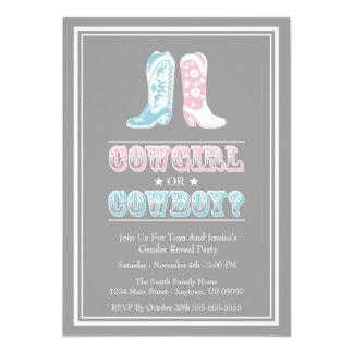 Cowboystiefel-Geschlecht decken Party Einladungen