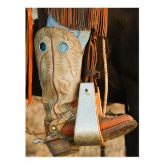 Cowboystiefel Postkarte