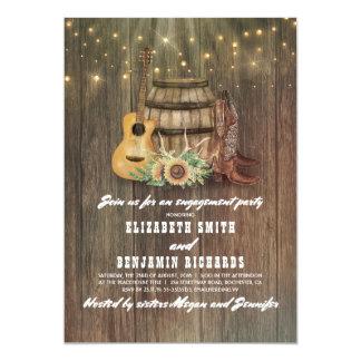 Cowboystiefel-Wein-Fass-Land-Verlobungs-Party 12,7 X 17,8 Cm Einladungskarte