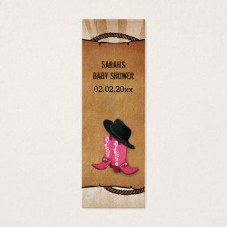 Cowboystiefel-Western personalisierte Mini Visitenkarte