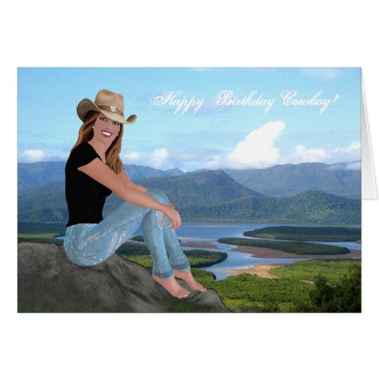 Cowgirl - alles- Gute zum Geburtstagcowboy - Karte
