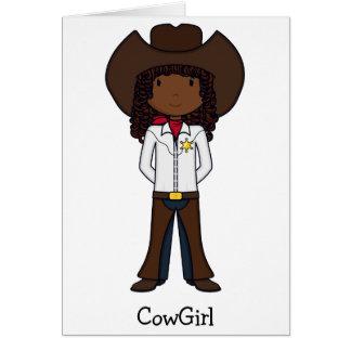 Cowgirl Karte