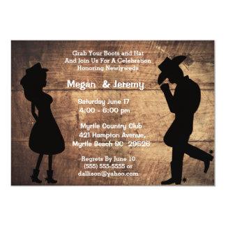 Cowgirl-und Cowboy-Empfangs-Einladung 12,7 X 17,8 Cm Einladungskarte