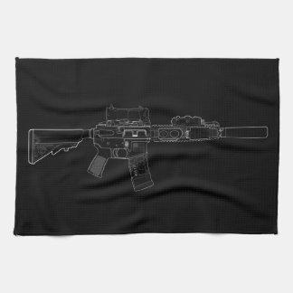 CQBR MK18 Mod 0 schwarzes Küchen-Tuch Handtuch
