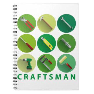 craftsman tools spiral notizblock