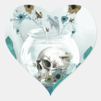 Crâne dans l'illustration de cuvette de poissons