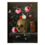Crâne et roses posters