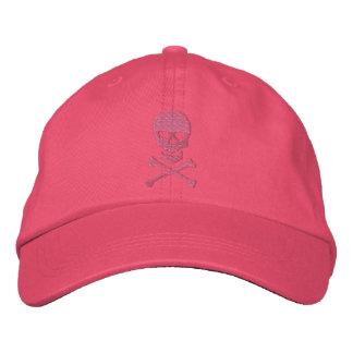 Crâne grunge et casquette brodé d'os croisés casquettes de baseball brodées