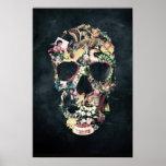 Crâne vintage posters