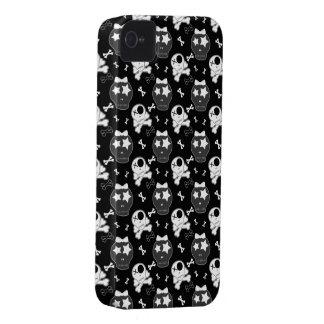 Crânes mignons et caisse audacieuse de Blackberry