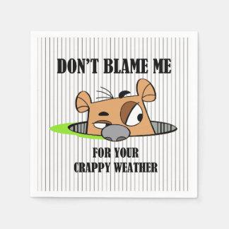 Crappy Wetter Groundhog Papierservietten