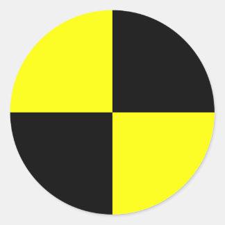 Crashtest-Attrappen-Markierung Runder Aufkleber