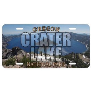 Crater See-Nationalpark-Kfz-Kennzeichen US Nummernschild